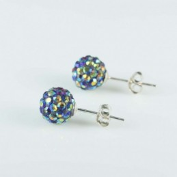 Earring ball 8mm. crystal...