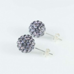Earring ball10mm. crystal...