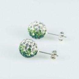 Earring ball 10mm. crystal...