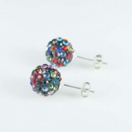 Earring ball10mm. crystal...