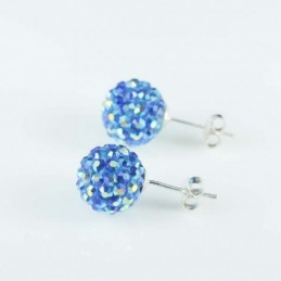 Earring ball 10mm. crystal...