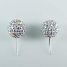 Earring ball 12mm. crystal...