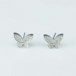 Earring Butterfly  8x10mm,...