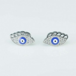 Earring  EYE  9x15mm, Circonia