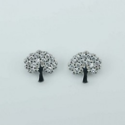 Earring  Tree  10mm, Circonia
