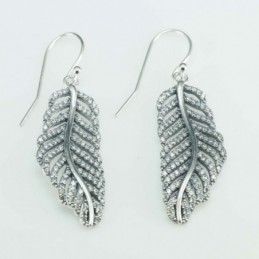 Earring Hook Leaf 12x33mm....