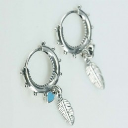Earring Hoop Feather 16mm....