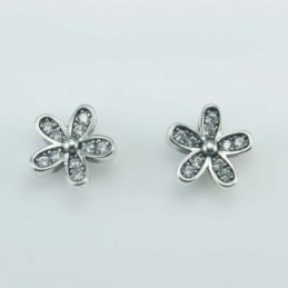 Earring Flower 9mm. Circonia