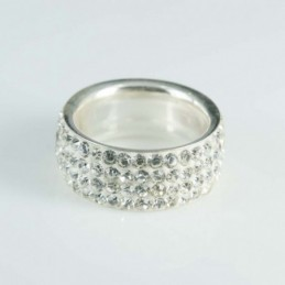 Ring 9mm. Crystal white color
