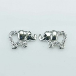 Earring Elephint 8x12mm....