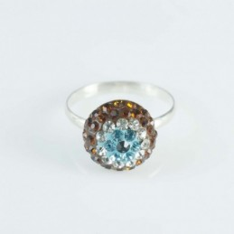 Ring Oval 12x14mm.Crystal...