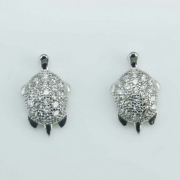 Earring Turtle  8x13mm....