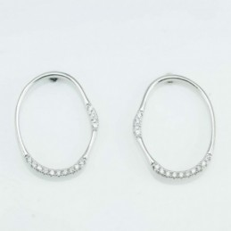 Earring Hoop oval 15x20mm....