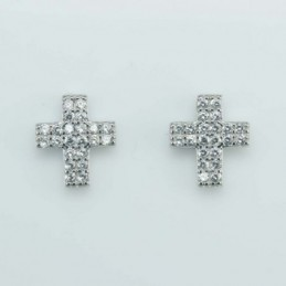 Earring Cross 9x10mm....