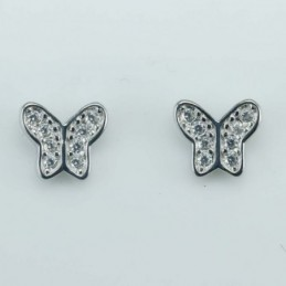Earring Butterfly  8mm....