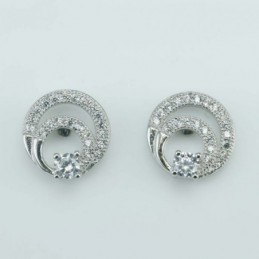 Earring Drop  10mm.  Circonia