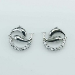 Earring Dolphin 2,  10mm....