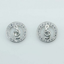 Earring Round music 10mm....