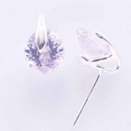 Earring Circonia C.Z. Round