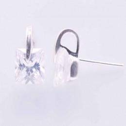 Earring Circonia C.Z. Square