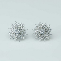 Earring Star 13mm. Circonia