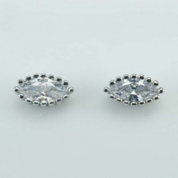 Earring Eye 5x10mm.  Circonia