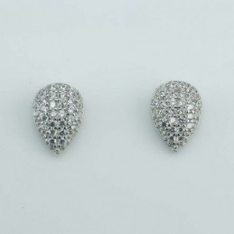 Earring Drop 6x9mm.  Circonia