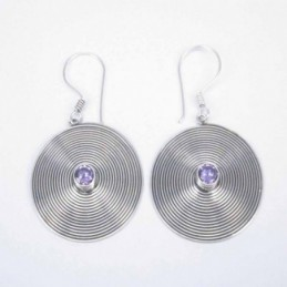 Earring Oval with Ametisth...