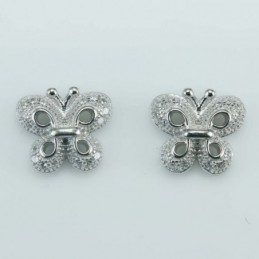 Earring Butterfly 9x10mm....