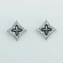 Earring Rhombus 7mm. Circonia