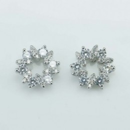 Earring Star 11mm. Circonia