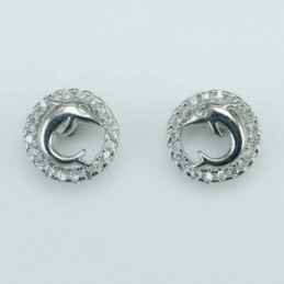 Earring Dolphin 9mm. Circonia