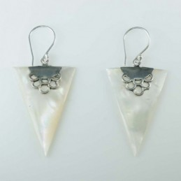 Earring Triangle MOP Shell
