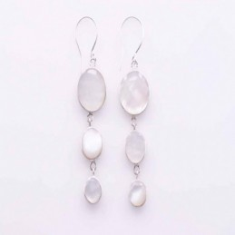 Earring Round MOP Shell