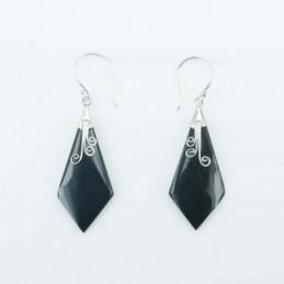 Earring Lanz. Black Resin