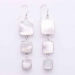 Earring Square MOP Shell