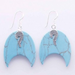 Earring Moon Turquoise Color