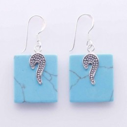 Earring Square Turquoise Color
