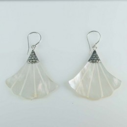 Earring Hand Fan MOP Shell