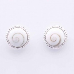 Earring Round white shiva...