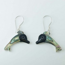 Earring Fish Abalon Shell