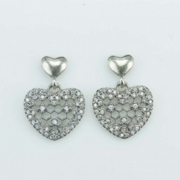 Earring Heart 13mm. Circonia