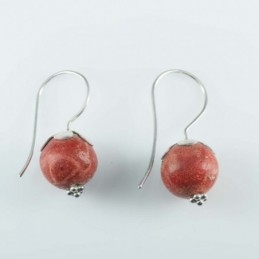 Earring Ball Coral