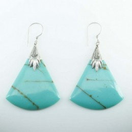Earring Triangle Turquoise...