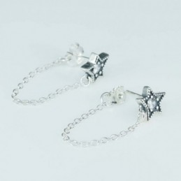 Earring Star 9mm. Circonia