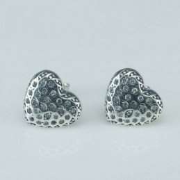 Earring Heart 11mm. Circonia