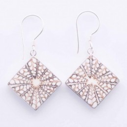 Earring Square Mix Shell