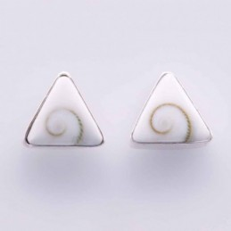 Earring Triangle Mix Shell