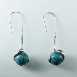 Earring Ball Turquoise...