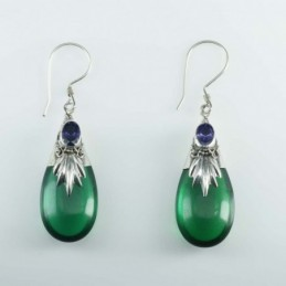Earring Drop Color Stone +...